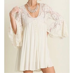 NEW Umgee Ashton Lace Tunic Dress Large